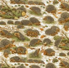 Nutex Hedgehog  Cotton Fabric
